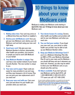 New Medicare Card Arriving Soon!