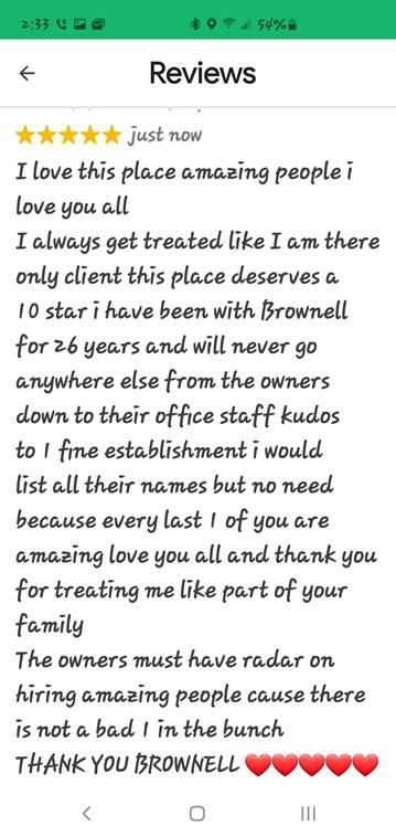 Brownell Insurance Testimonial